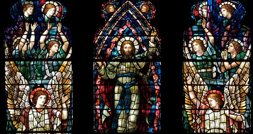 The Ascension Window at Holy Trinity by Henry Holiday.