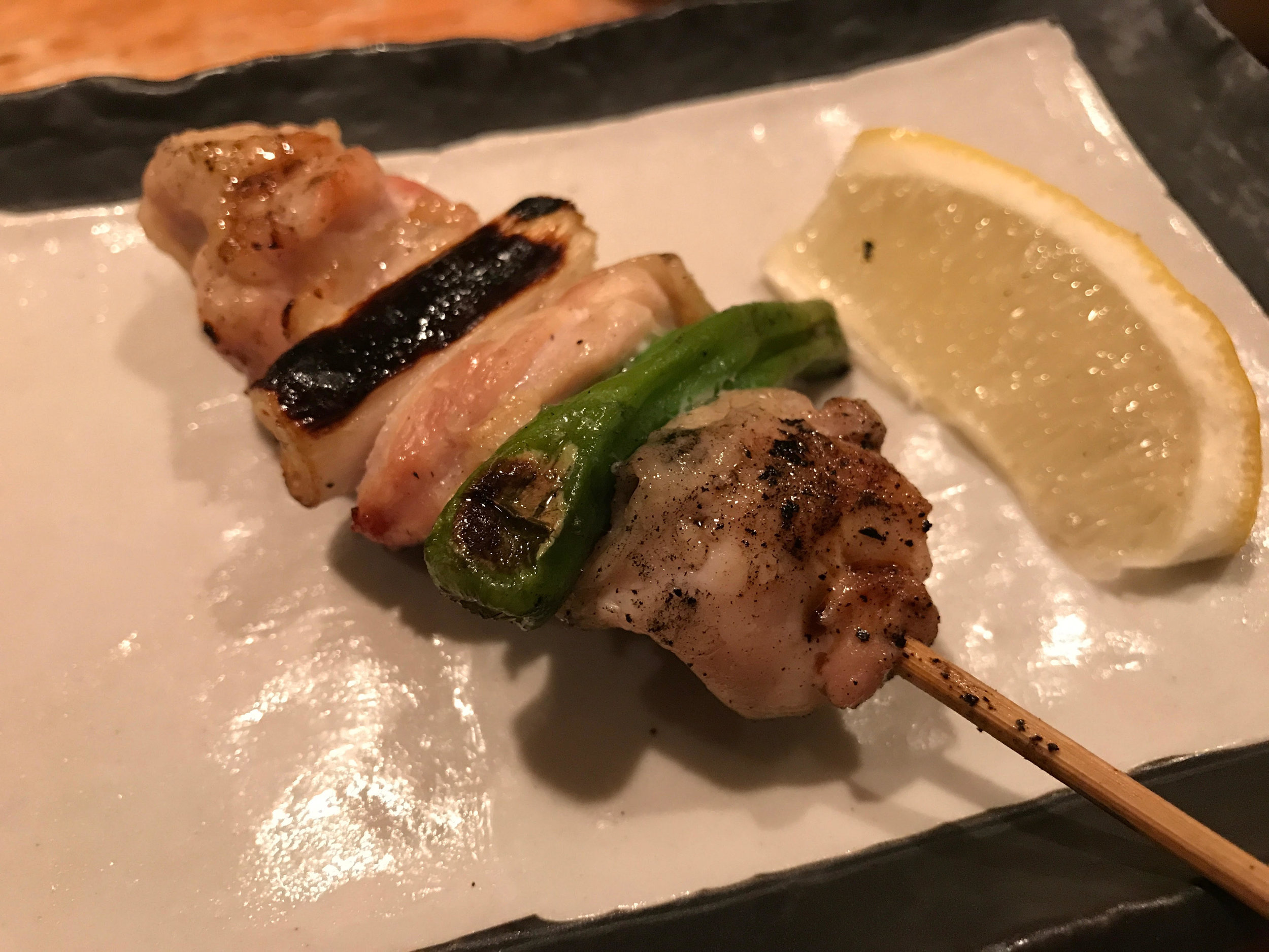 Standard Thigh with Scallions and Shishito Pepper