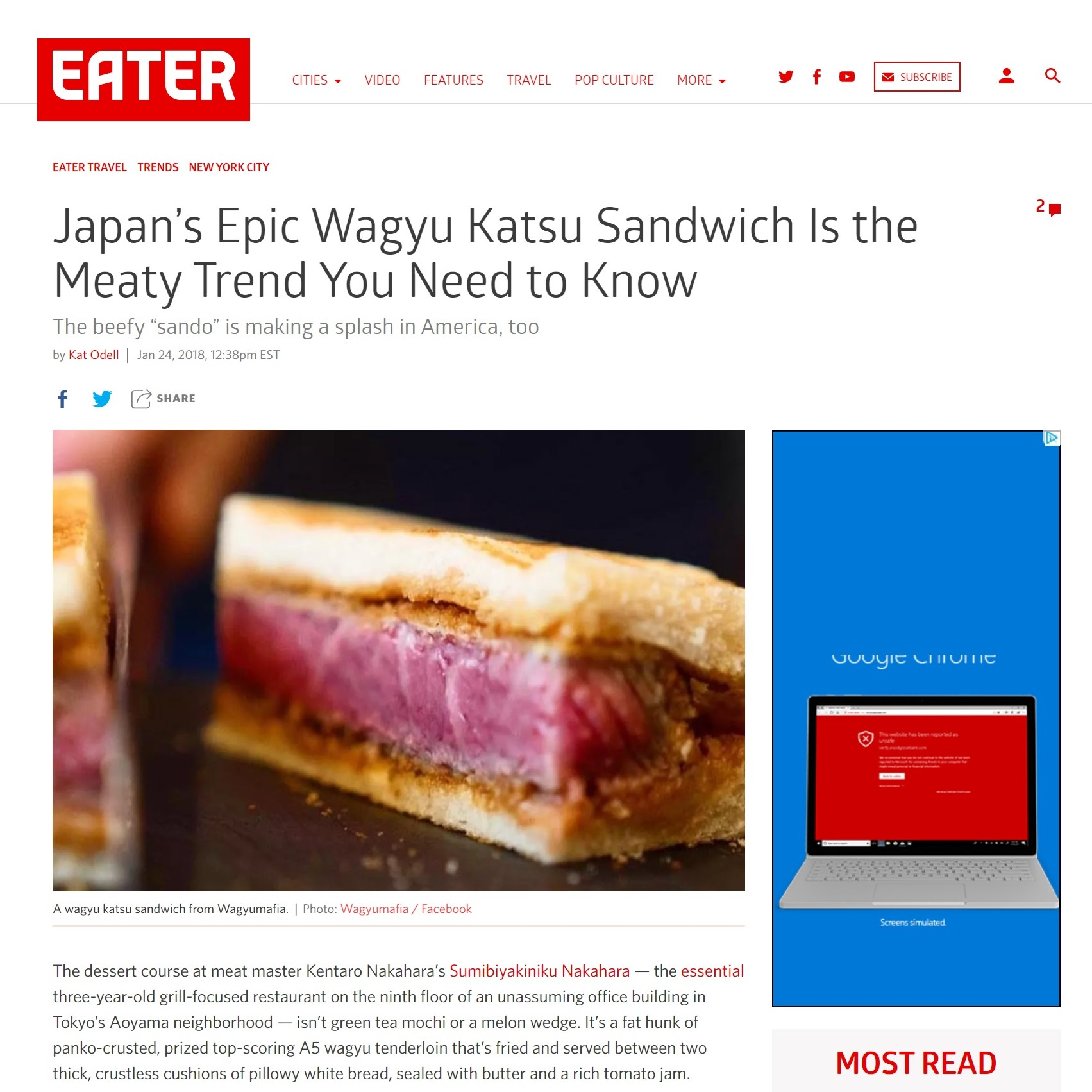 Eater - Japan's Epic Wagyu Katsu Sandwich Is the Meaty Trend You Need to Know