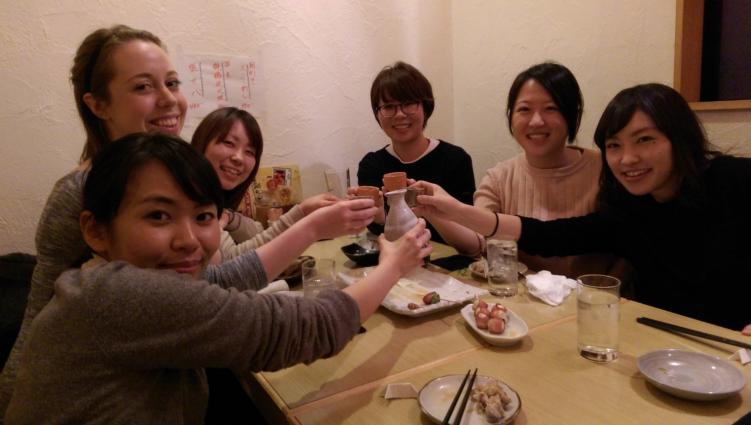 After work social at an izakaya (a must experience!).jpg