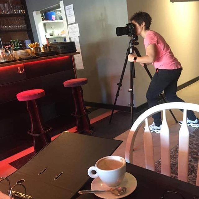 Caught in action! Photoshoot at Christchurch's new cafe/bar The Bunker at St Catherine's Hill. You MUST drop in.. they do amazing coffee... and much much more #thebunker #cafe #bar #christchurch #dorset #stcatherineshill #photoshoot #fundamentaldesign