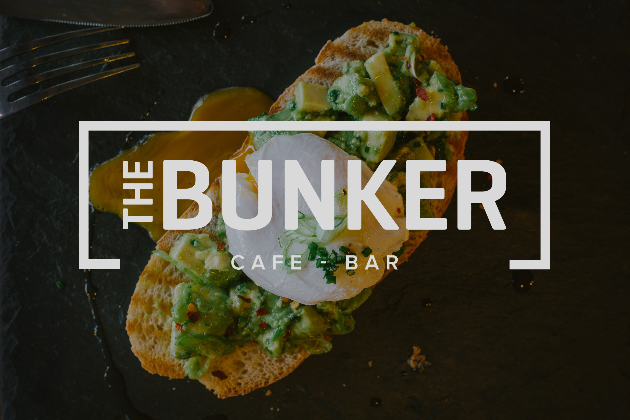 THE BUNKER    CAFE - BAR    Brand design for a new cafe/bar on St Catherines Hill, Christchurch