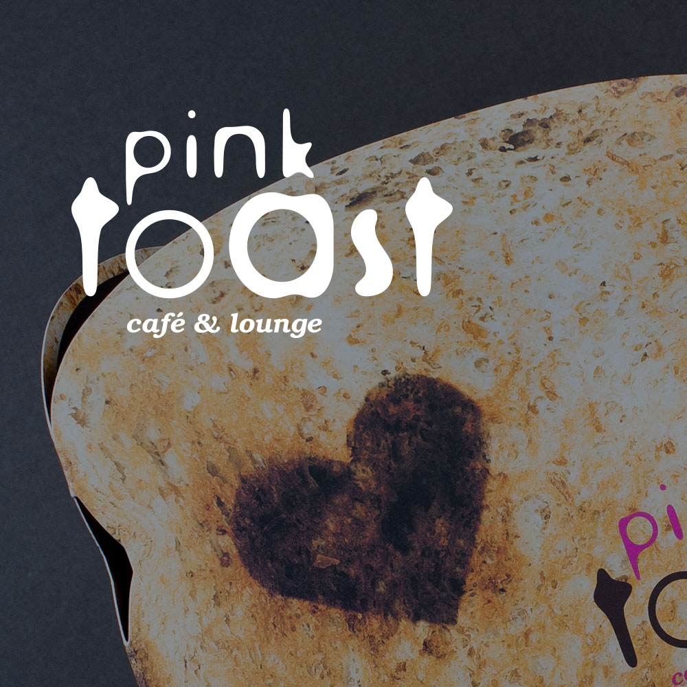 PINK TOAST CAFE     Branding and interior styling for a cafe and business lounge in the heart of Leatherhead