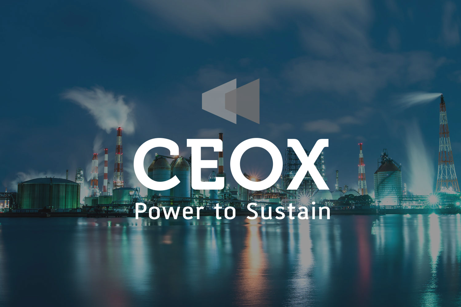 CEOX     Logo and digital prescence for an emissions free industrial powered technology providor