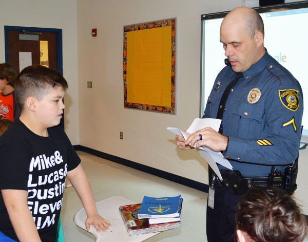 Officer Joey Melvin in the classroom - Delaware