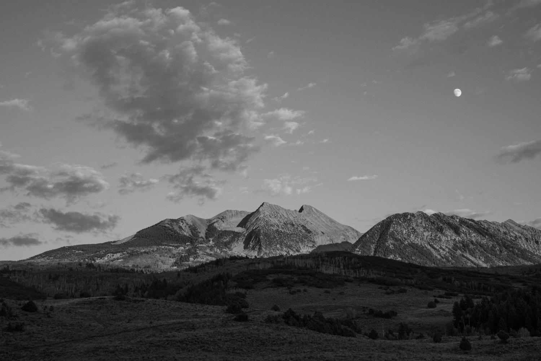 Moonrise, Mt. Sopris