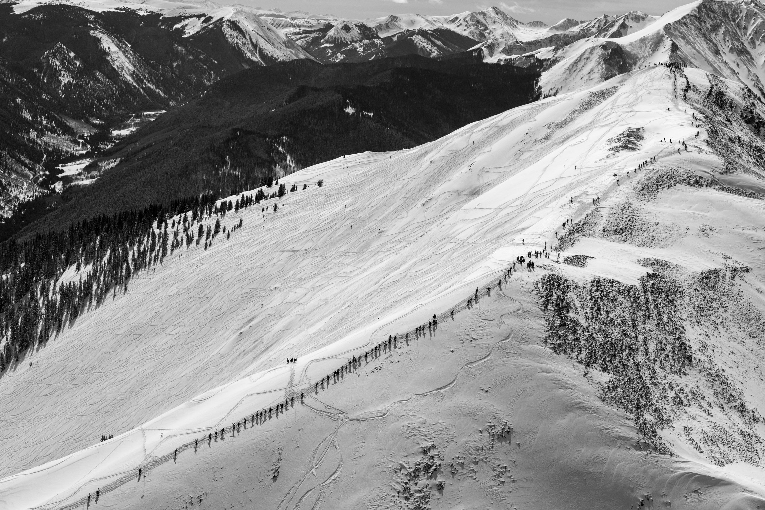 The Line #4, Highlands Bowl (B&W)