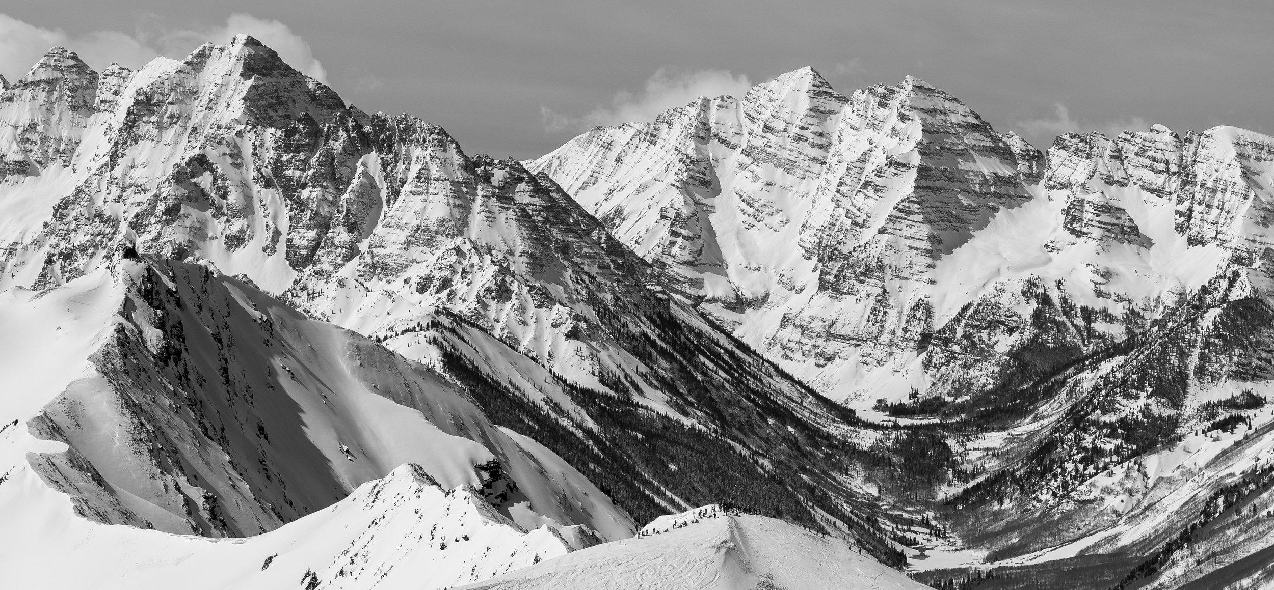 Summit #1, Aspen (B&W)