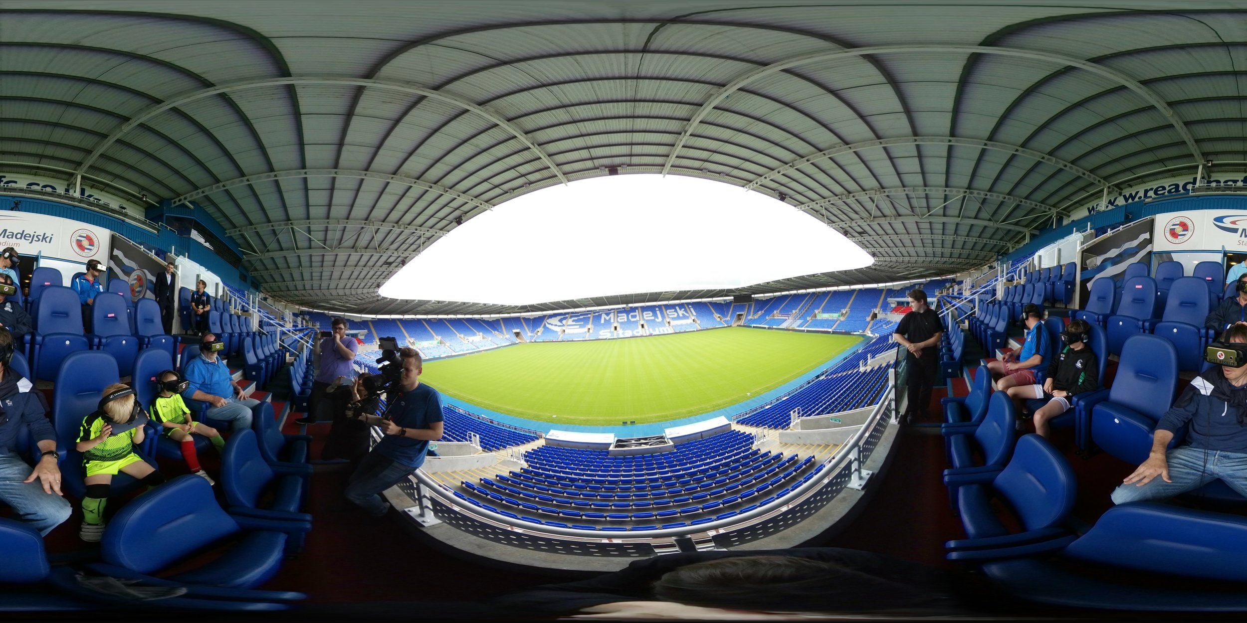 gate reality virtual reality augmented reality 360 video production house brooklyn new york london berkshire england soccer football club kit launch 2017 2018 madejski stadium