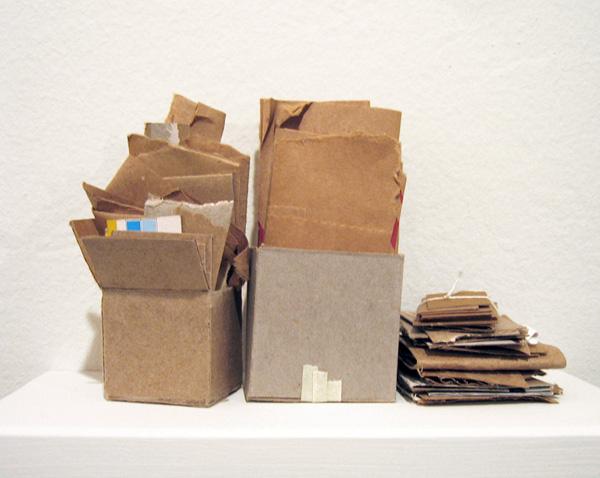 "Boxcutter - miniature sculpture  Comingled containers6.25""L x 3.5""W x 4.25""H"