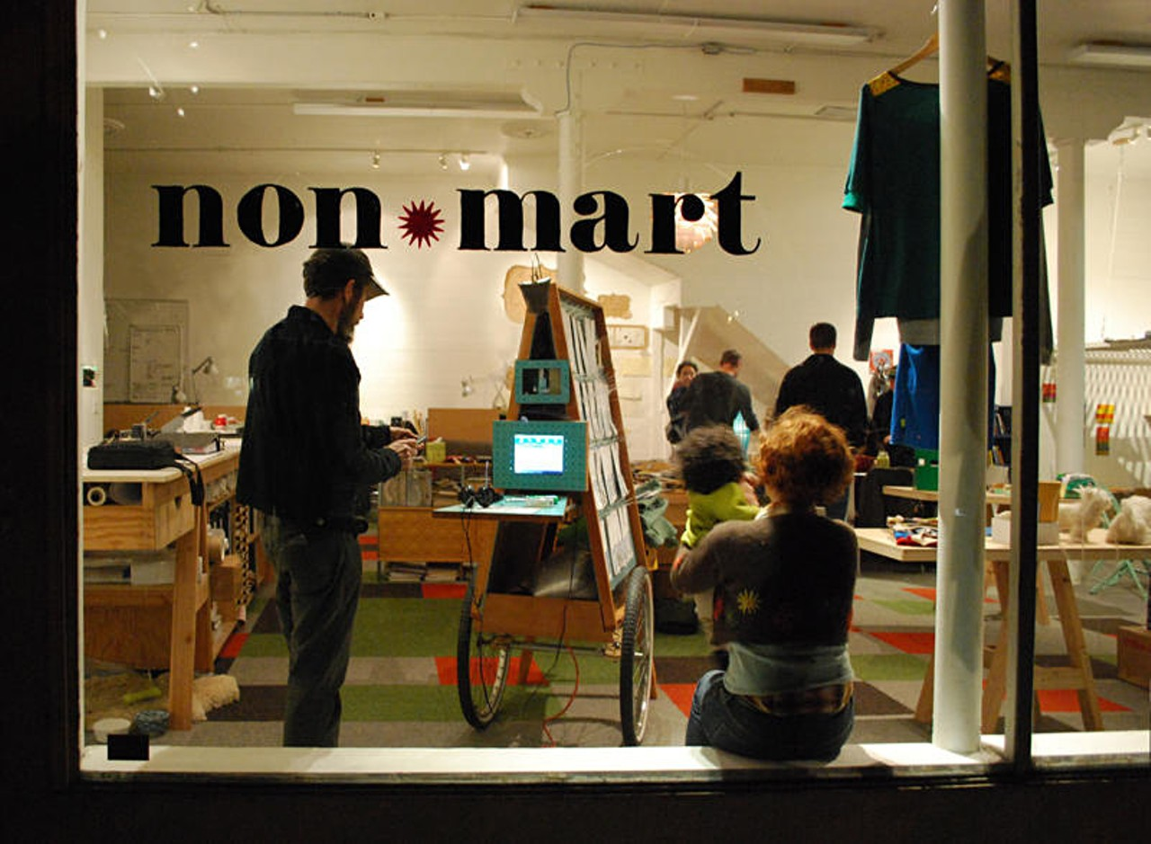You can acquire artwork at Non*Mart, but you won't need to pay any money to do so.