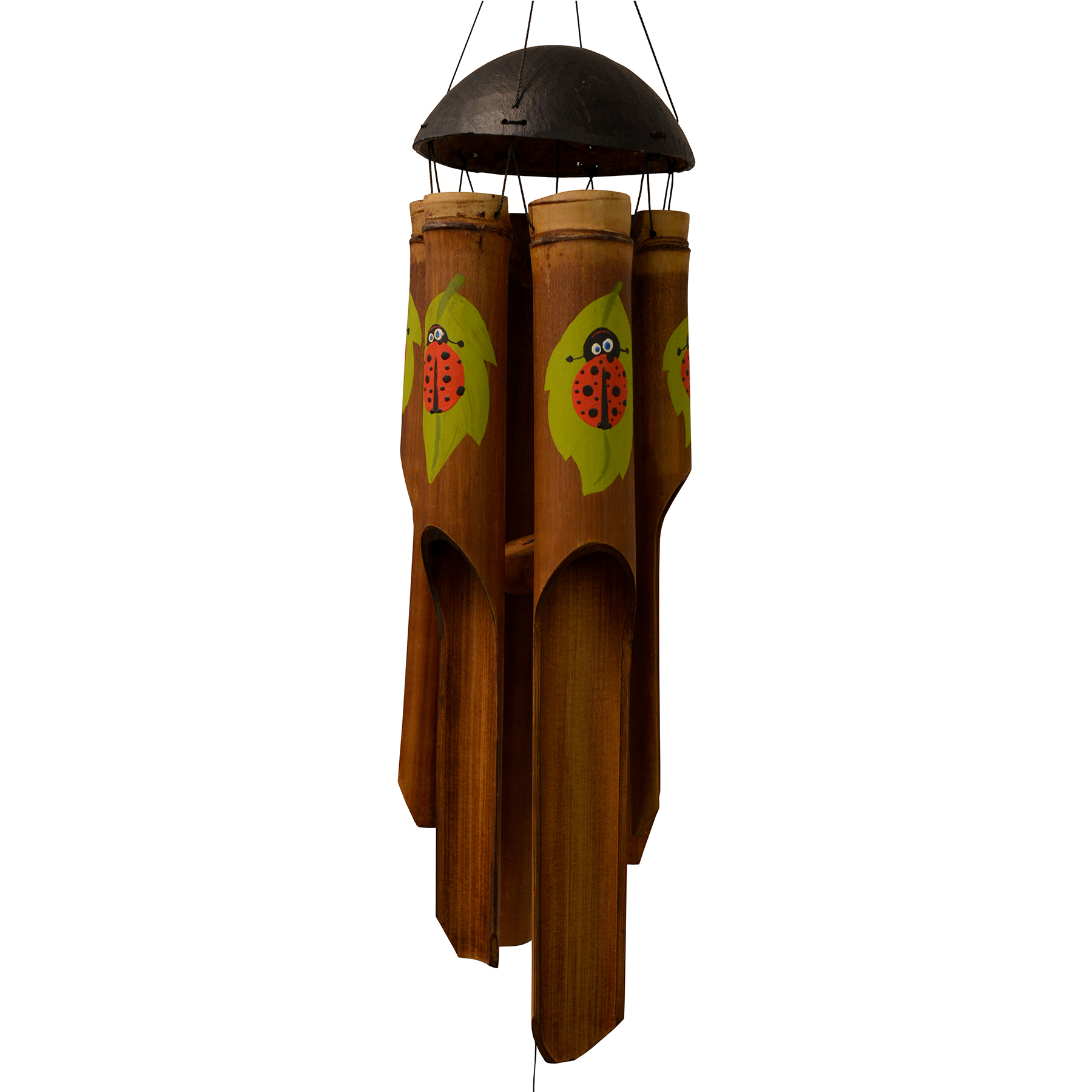 204, 205 - Ladybug Simple Bamboo Wind Chime