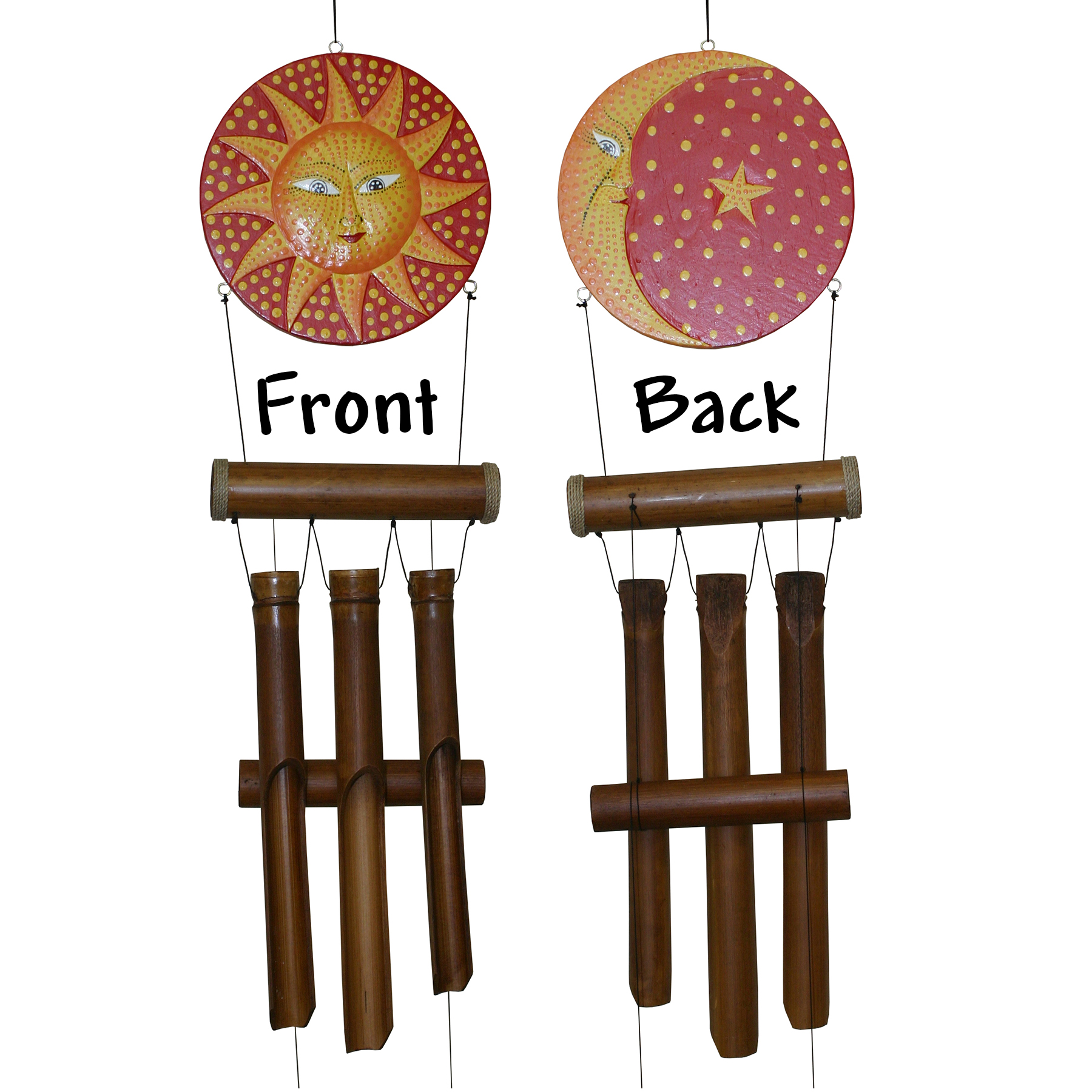 "293H - Sun Moon ""Dots"" Harmony Wind Chime"