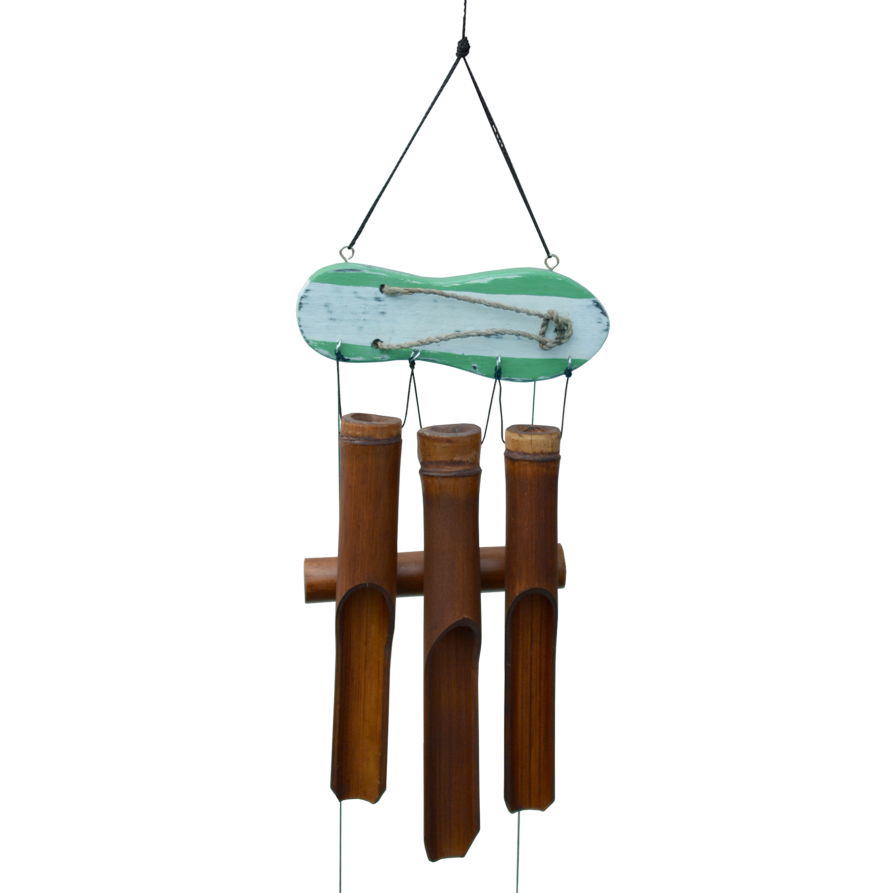 111G - Green Sandal Bamboo Wind Chime