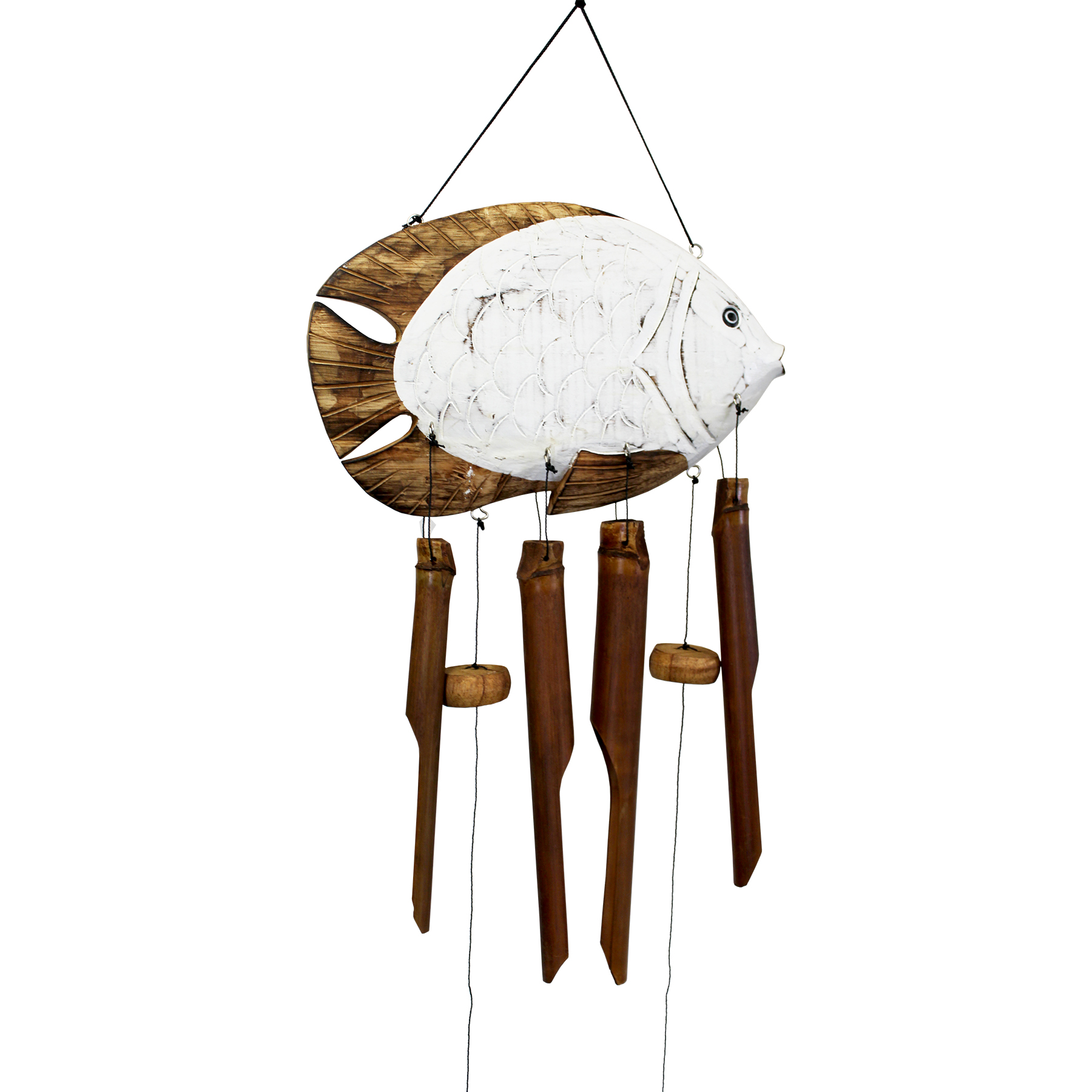 214SU - Sun Fish Bamboo Wind Chime