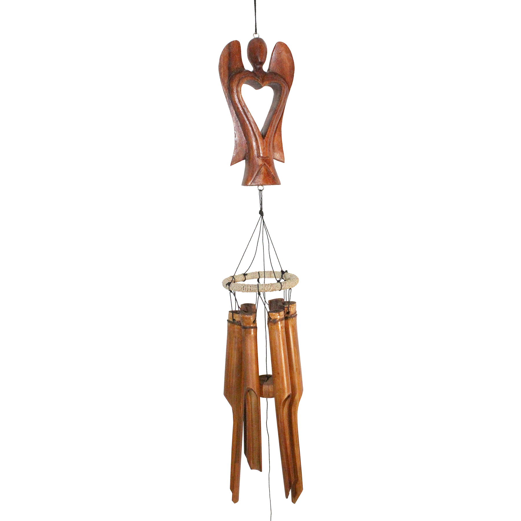 630A - Antique Angel Bamboo Wind Chime