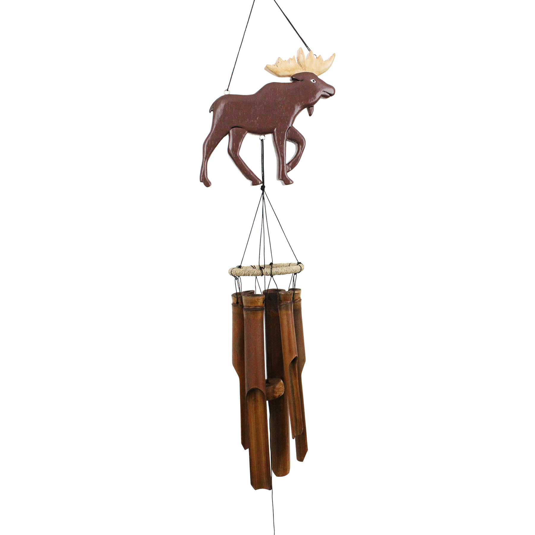 181MS - Moose Silhouette Bamboo Wind Chime