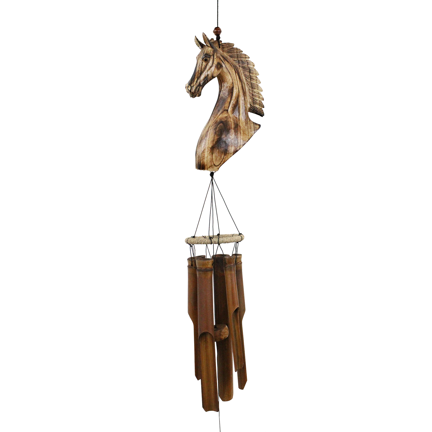 189H - Horse Head Bamboo Wind Chime