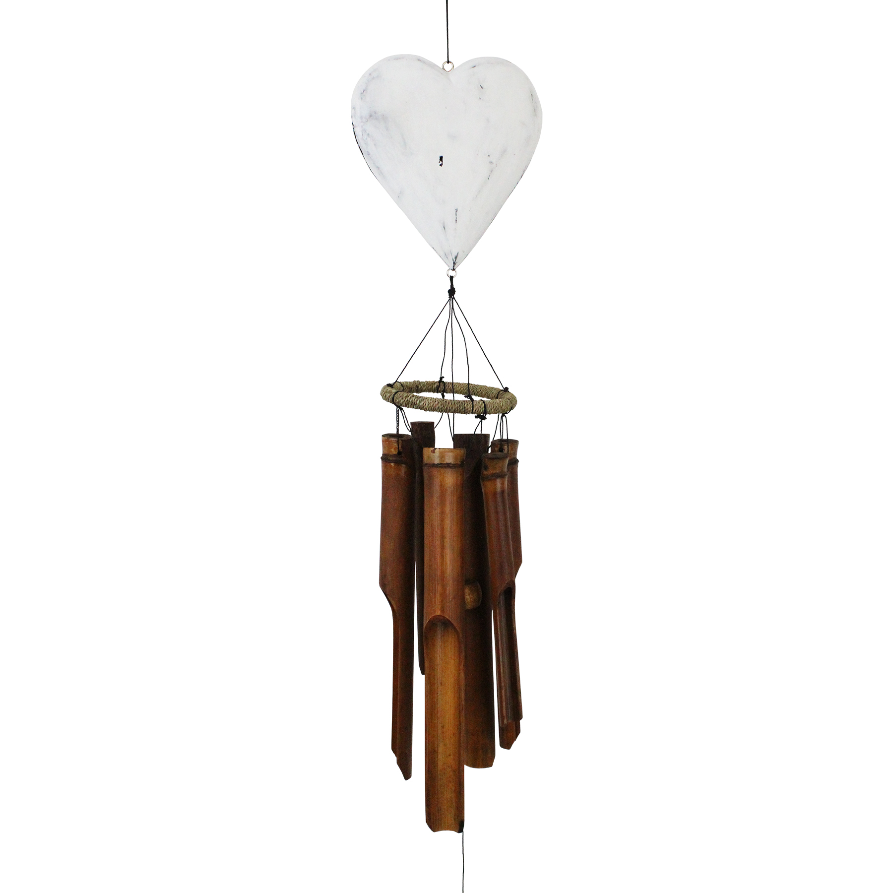 183H - Heart Bamboo Wind Chime