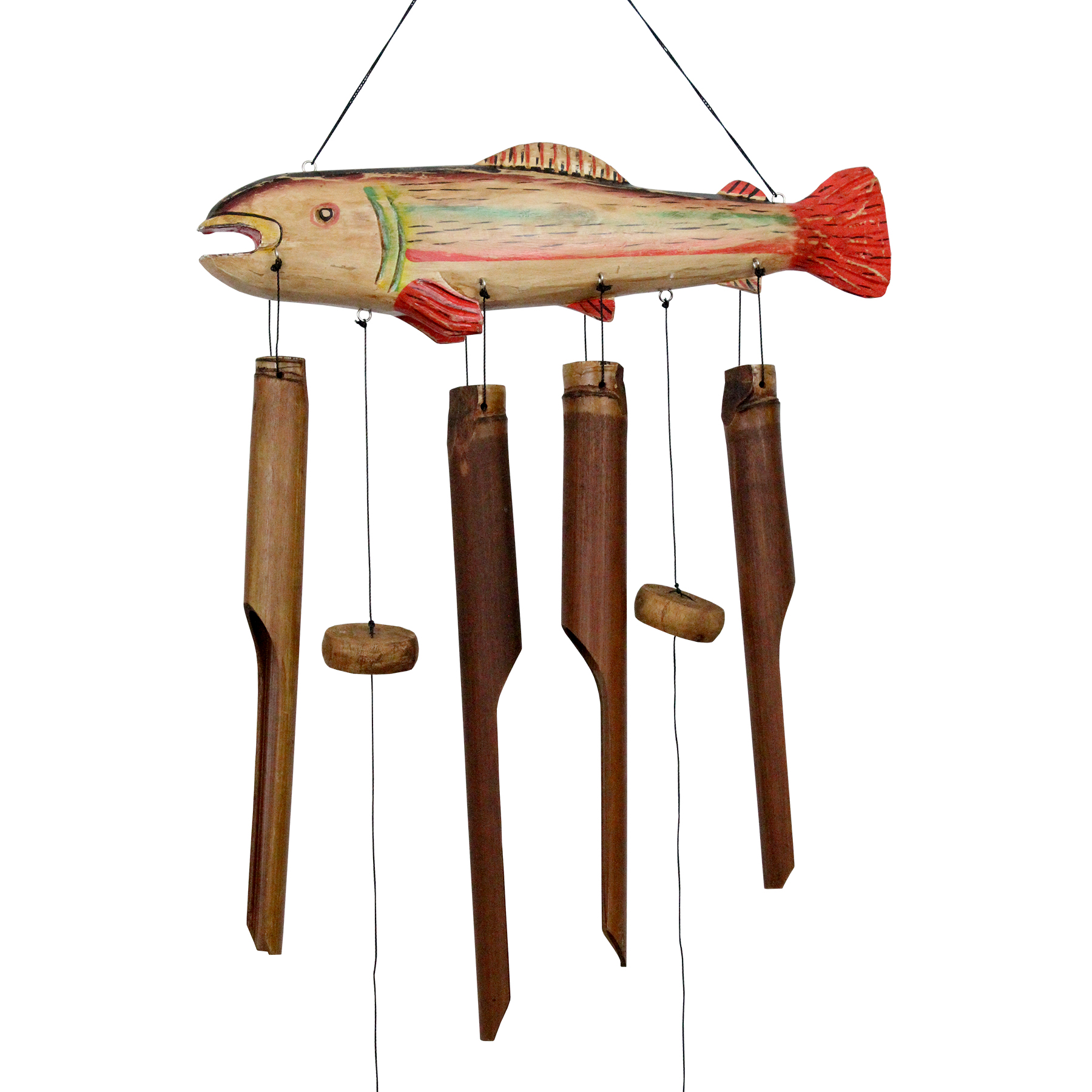 102 - Trout Bamboo Wind Chime