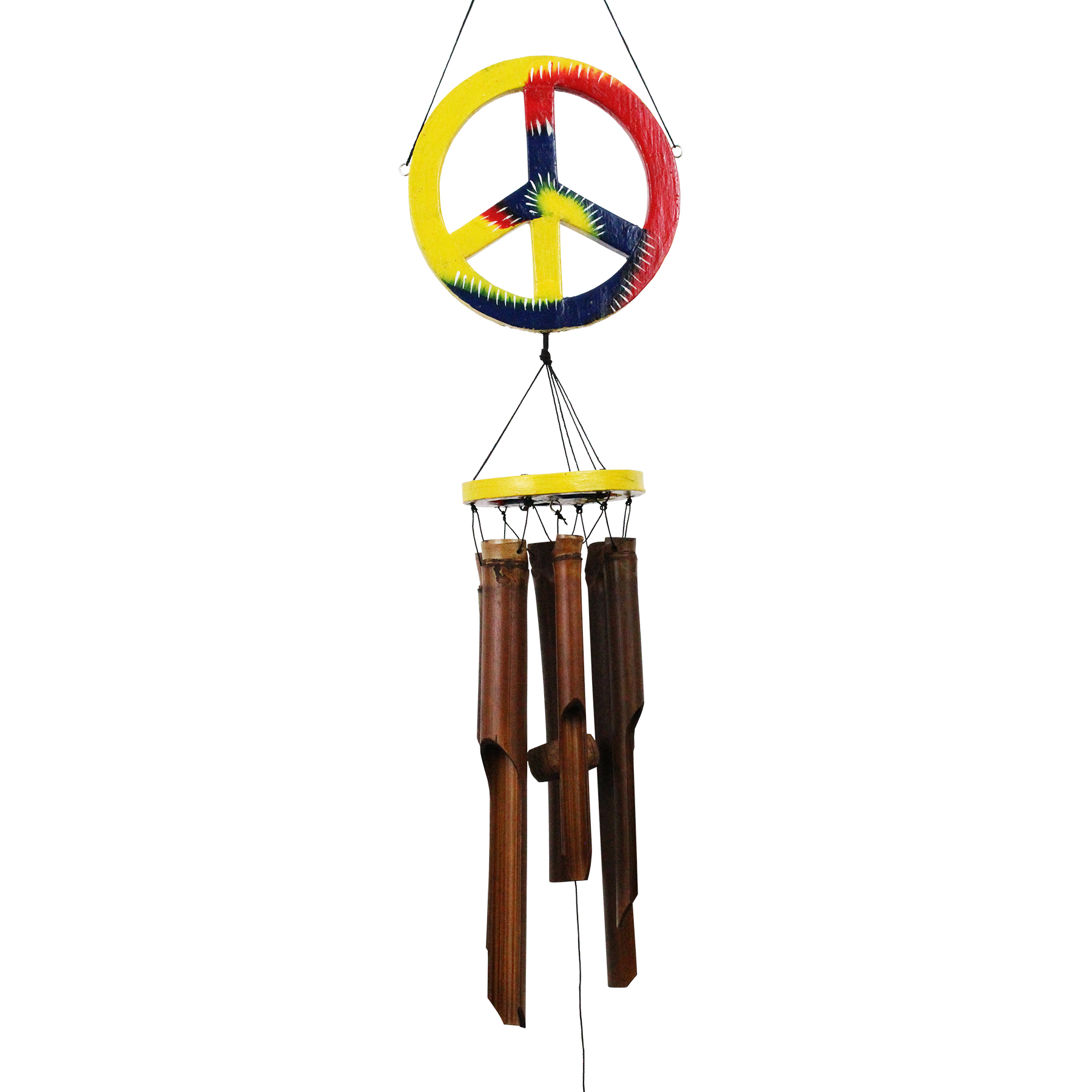 107 - Peace Sign Bamboo Wind Chime