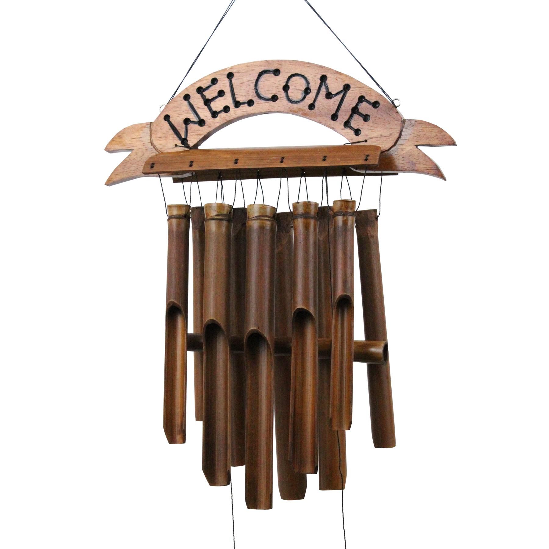190W - Welcome Bamboo Wind Chime