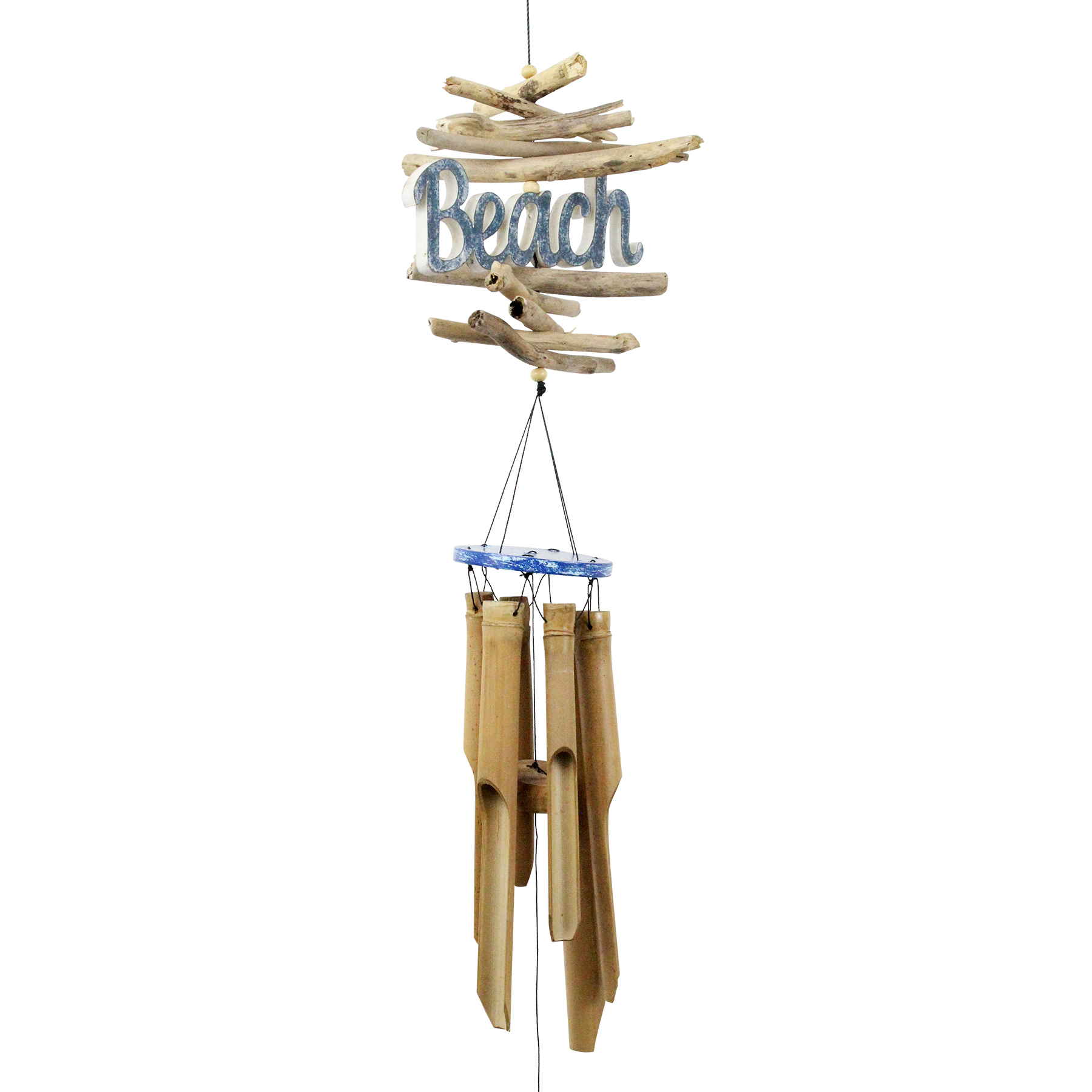 208 - Beach Logo Bamboo Wind Chime