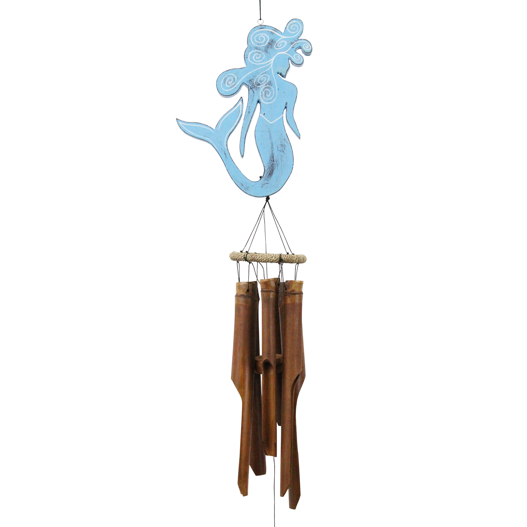 210B - Blue Mermaid Bamboo Wind Chime