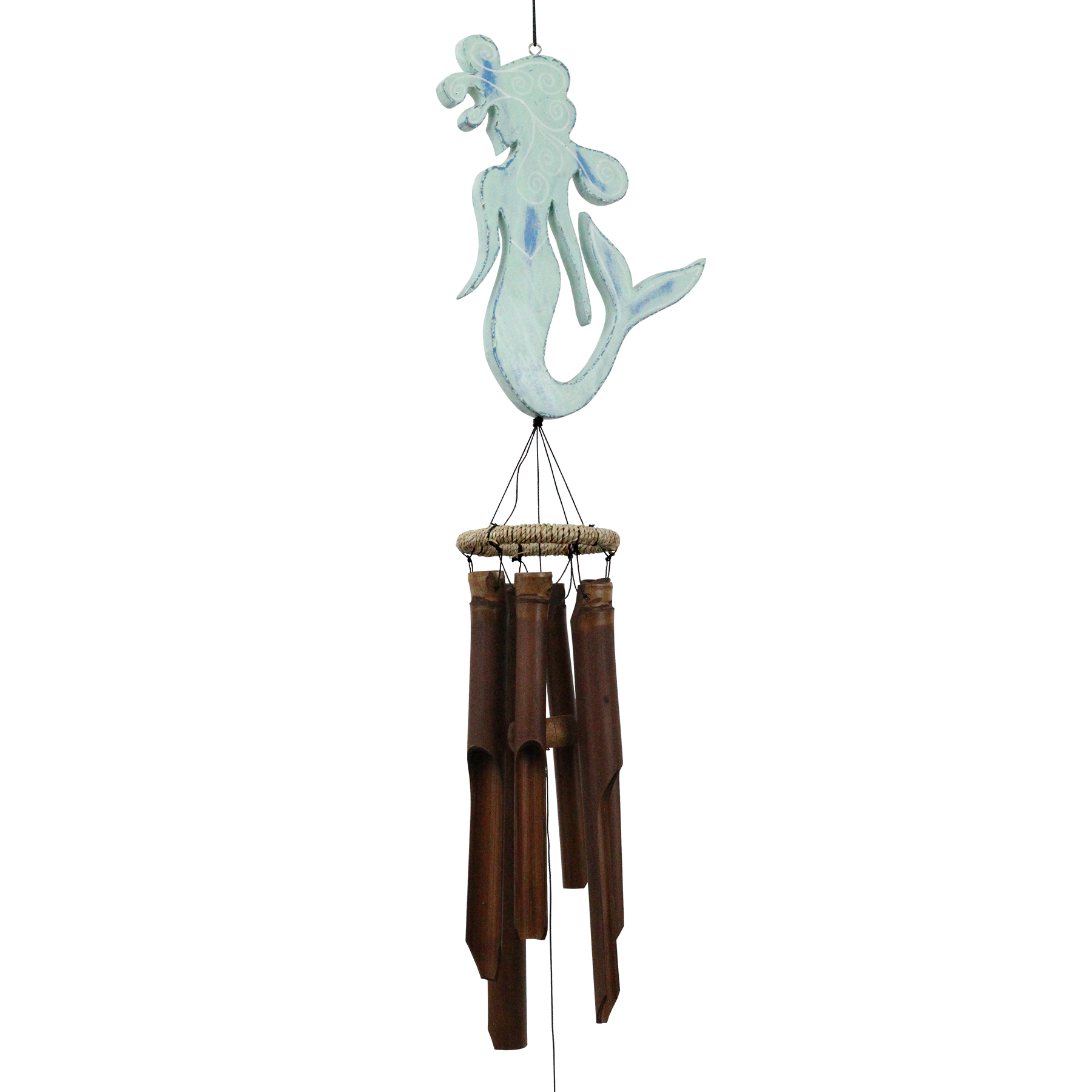 210G - Green Mermaid Bamboo Wind Chime