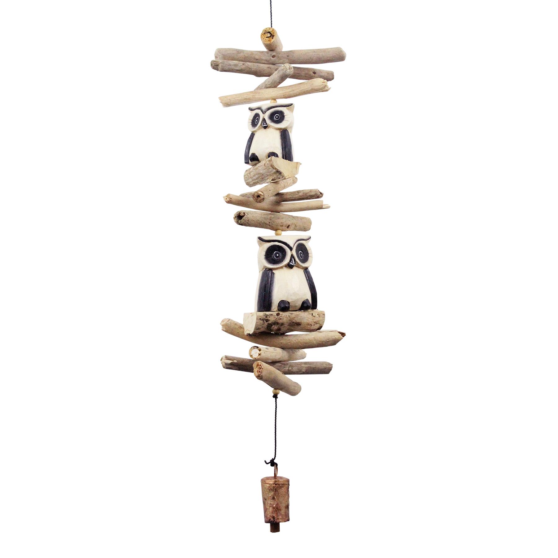 616 - Tan Oscar Owl Cohasset Bell