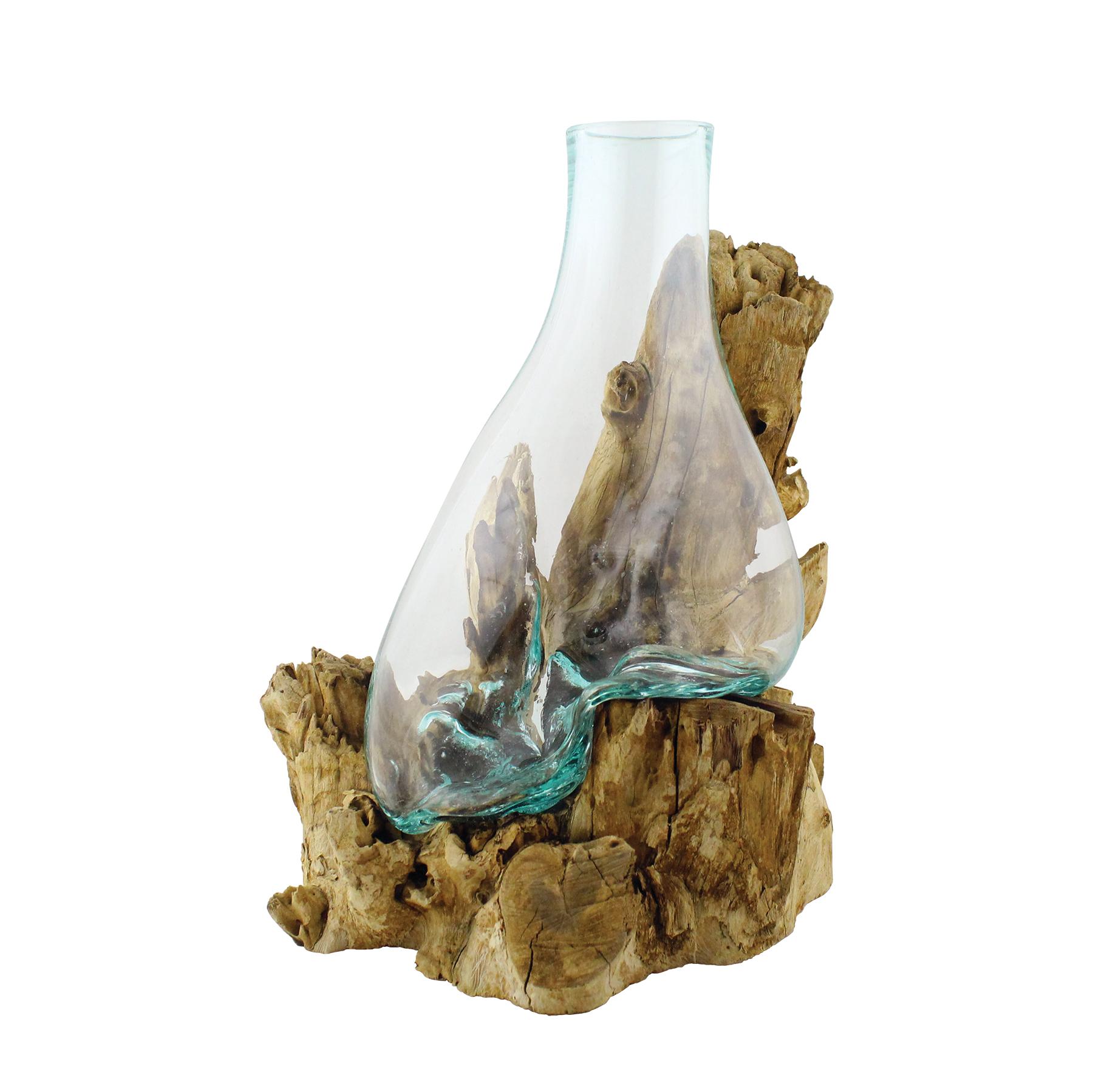660-38 Bleached Gamal Wood Vase