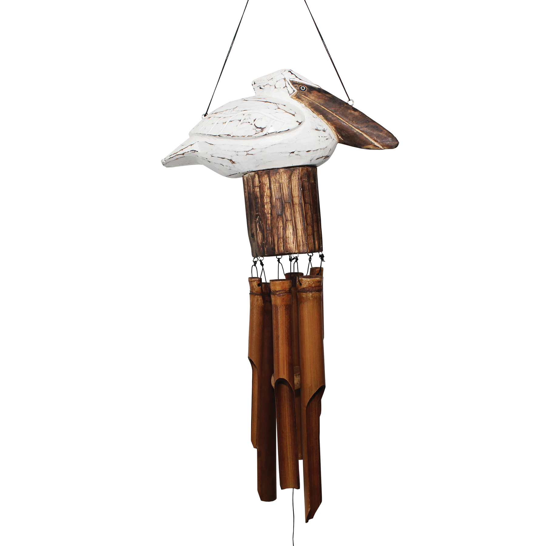 115SQ - Squat Pelican Bamboo Wind Chime