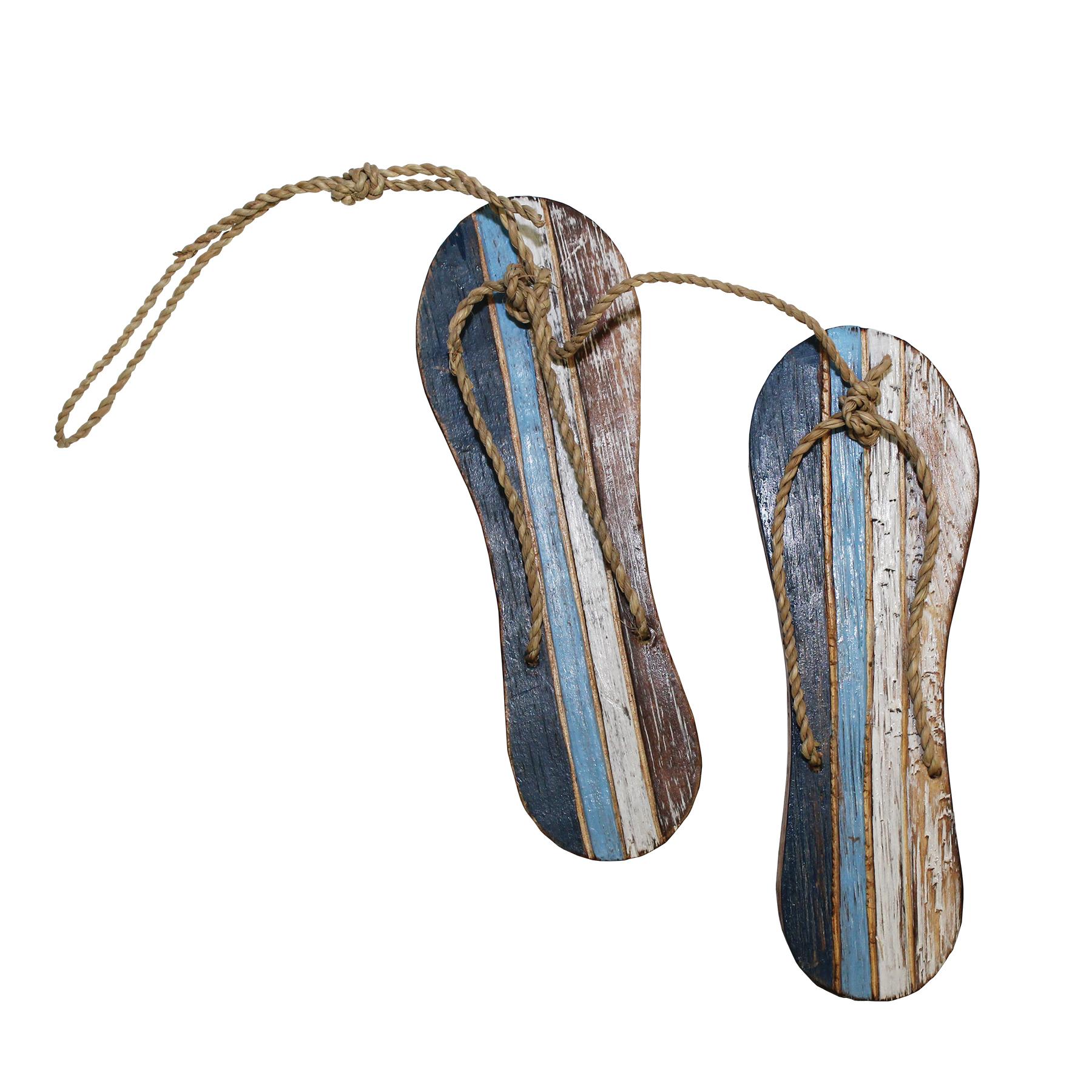 310S - Sandals Pair Striped