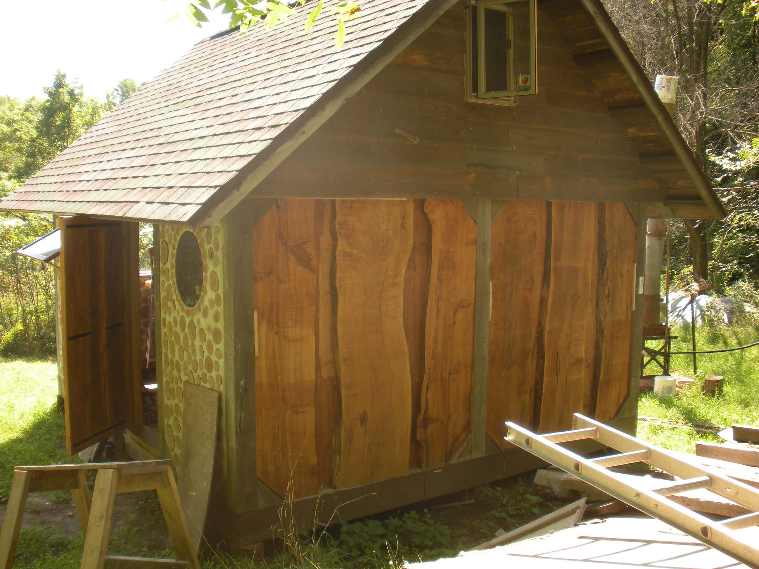 Slab Wood Walls