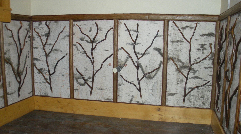 Birch Bark Wall Panels