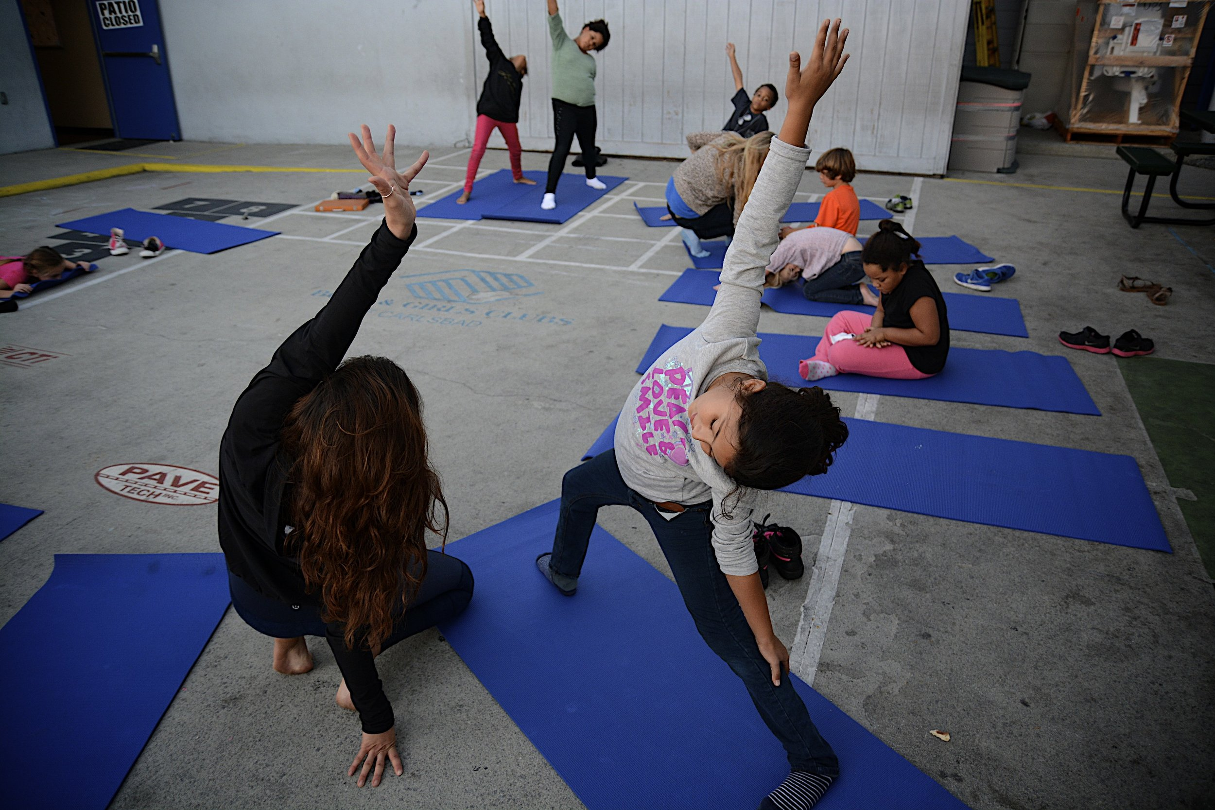 - Yoga at Boys & Girls ClubLora was brought in to lead the participants of the Boys & Girls Club, FDL in yoga and meditation. Summer, 2017.