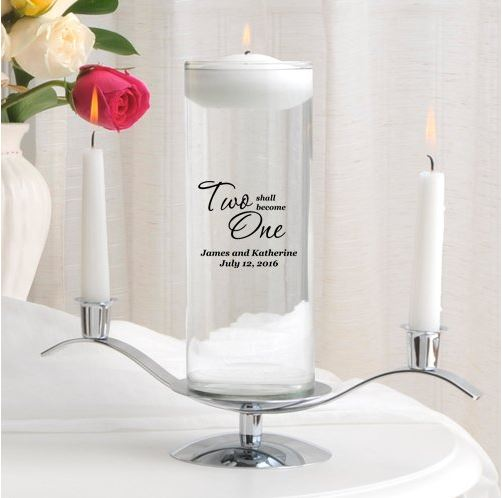 water floating unity candle set.JPG