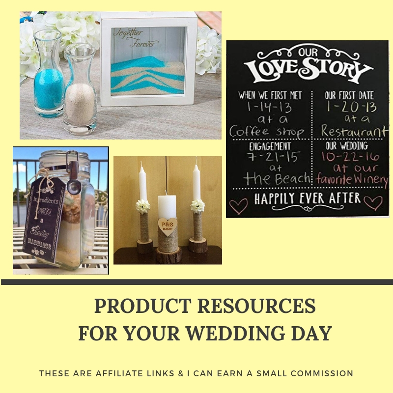 Click on the image to learn more about other products Amy has seen for weddings.
