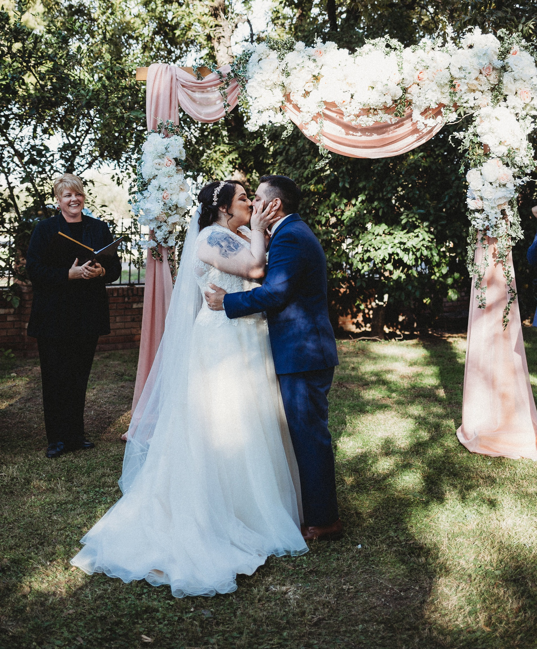 Custom pieces for your wedding ceremony & reception - (rental prices shown)Rustic wooden bar, 4 foot wide - $95.00A 8x8 ft arch - $75.00 (Shown on left, you would supply your own fabric and flowers)Donut wall - $40.002x3 signs - $35.00(Delivery /set up fee starting at $50.00 up to 20 miles)Package deals and custom orders (prices will vary)Price match for similar items.