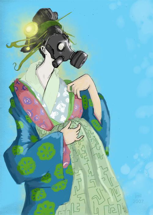 Gas Mask Geisha