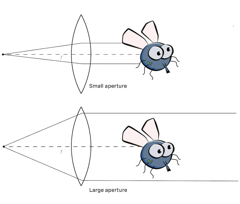 Small apertures are more susceptible to obscurants blocking all light