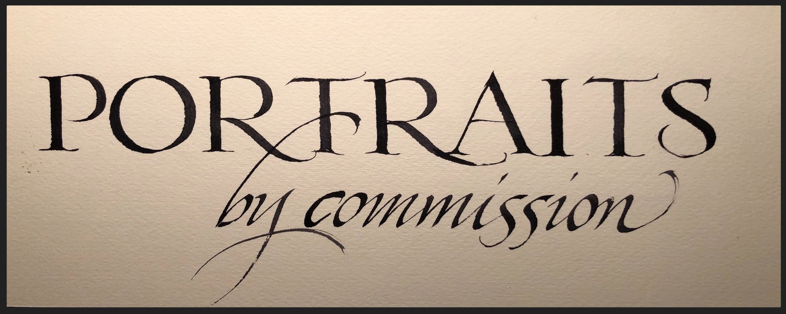 …. and sometimes a little calligraphy!