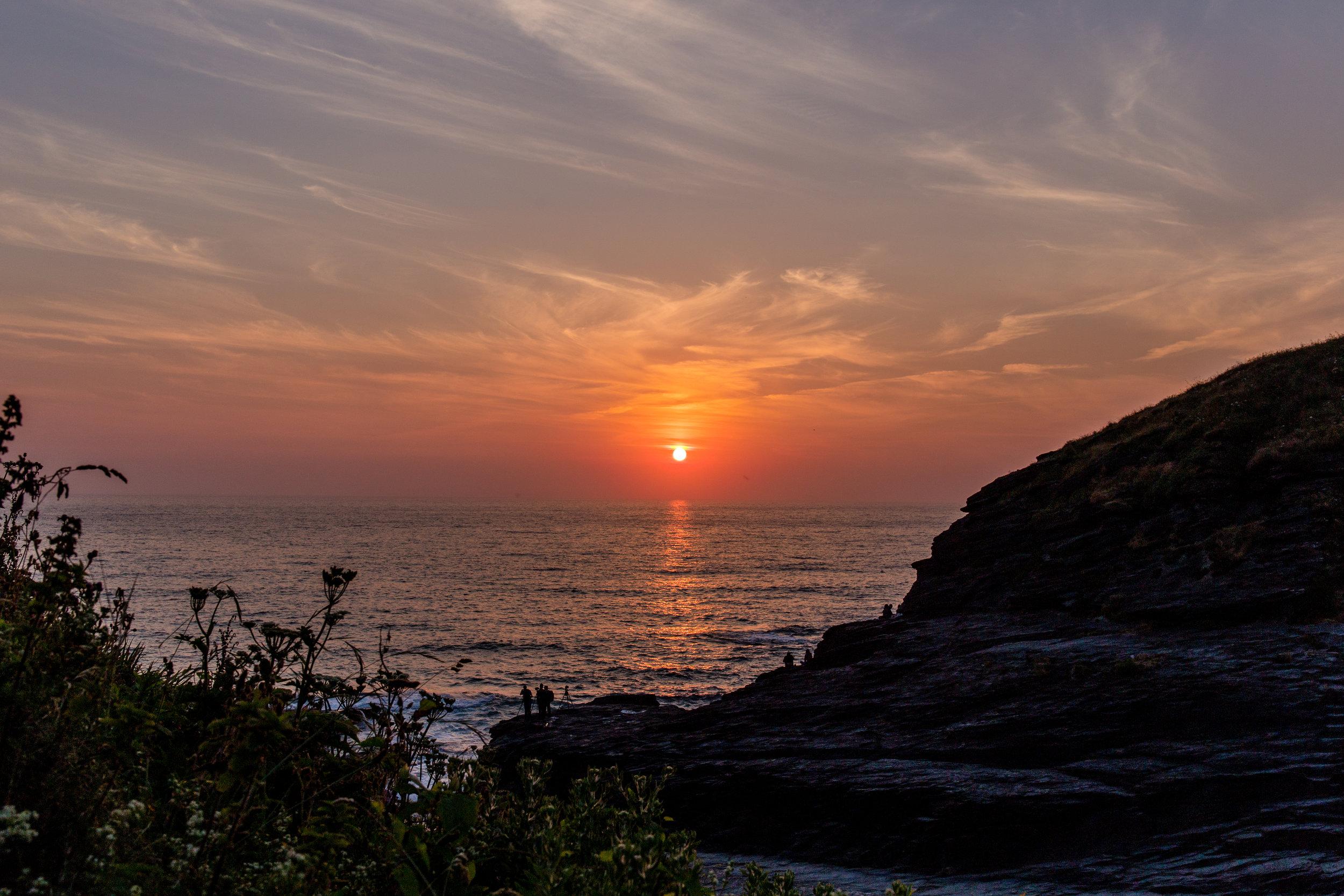Sunset from Trebarwith Strand