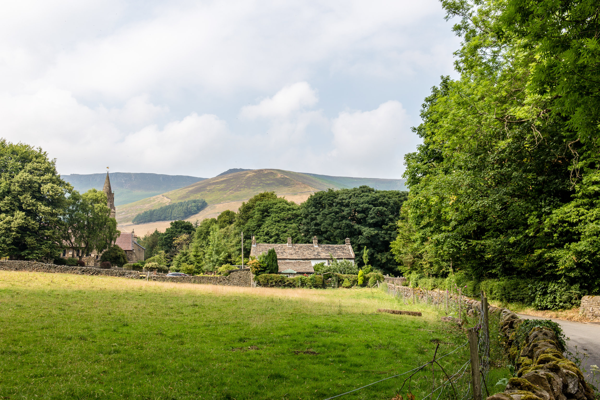 A view of Edale, heading up from the train station