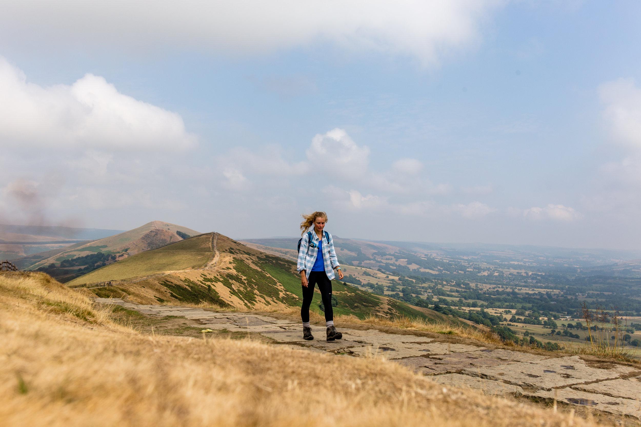 Hiking along the ridgeline