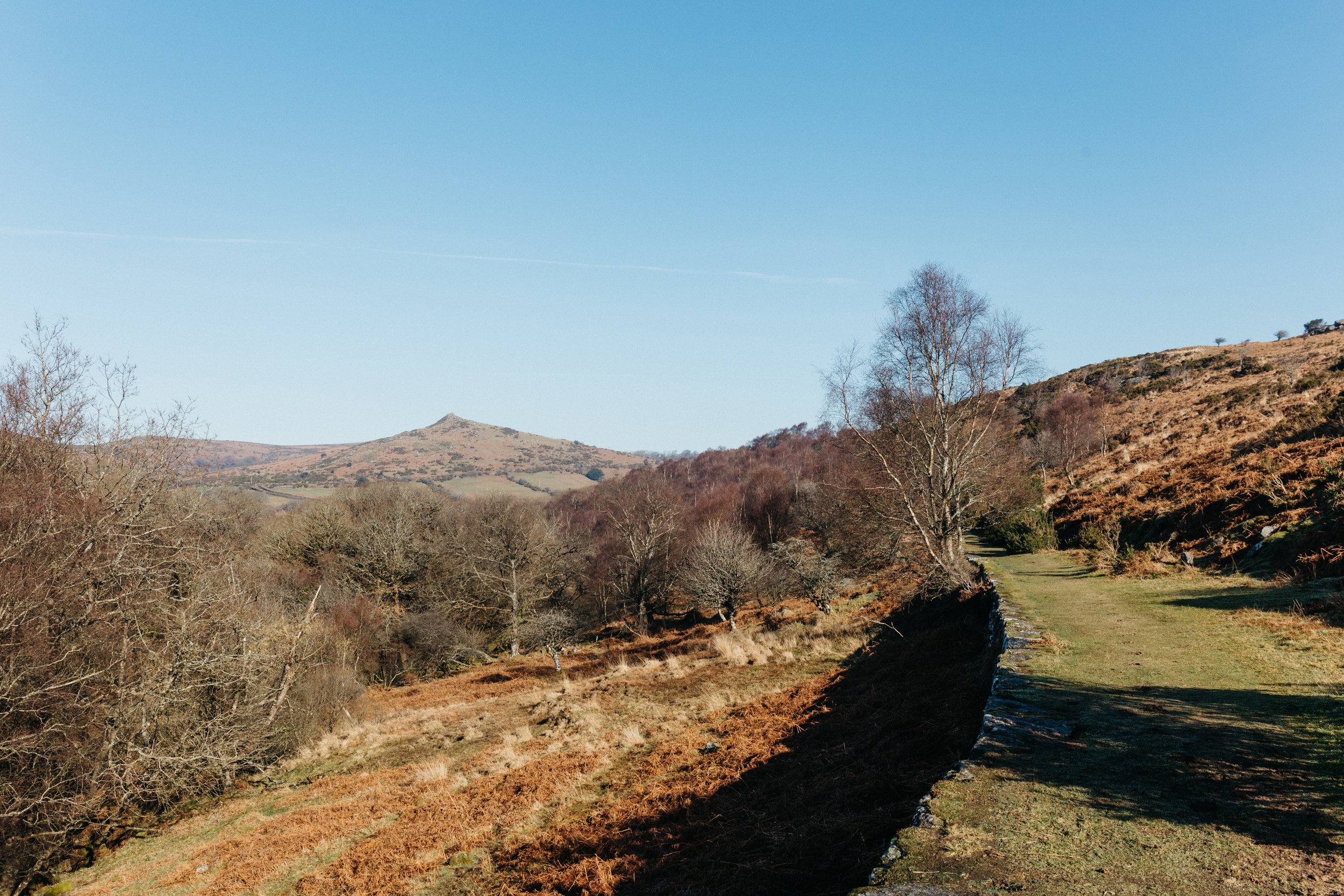 3. Walk along the well-marked track as views open up on the valley