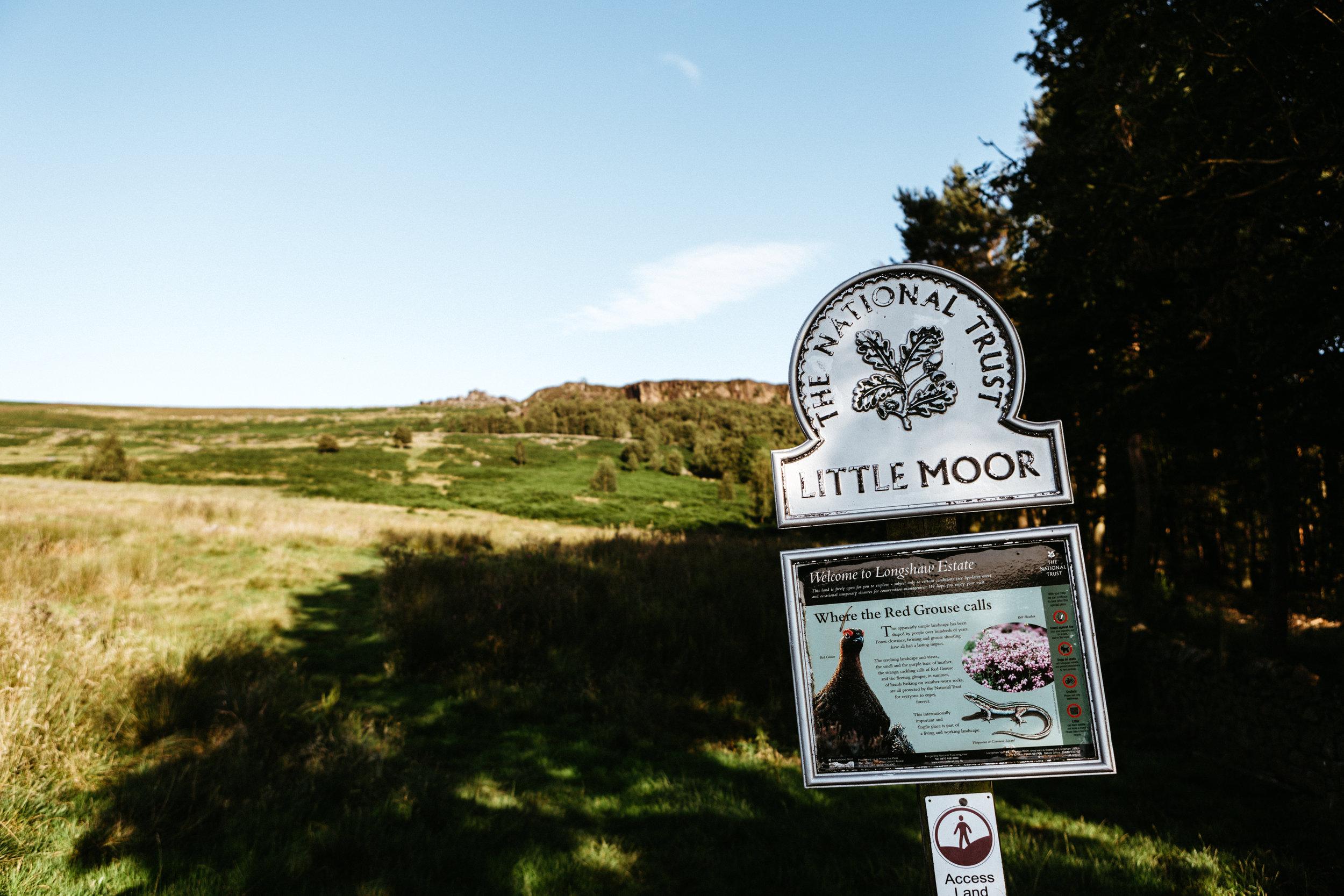 Heading onto Little Moor