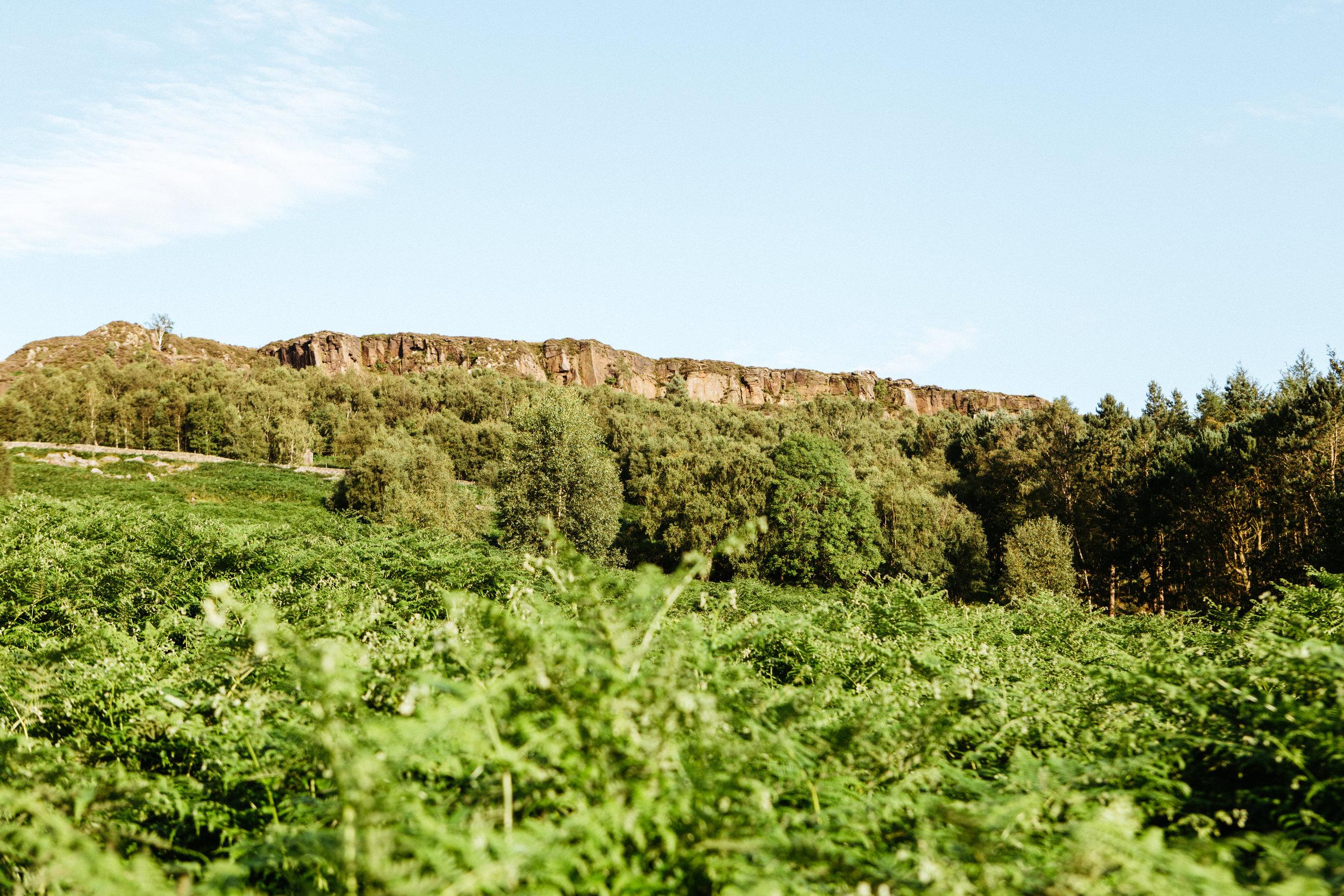 Views of Millstone Edge from Little Moor