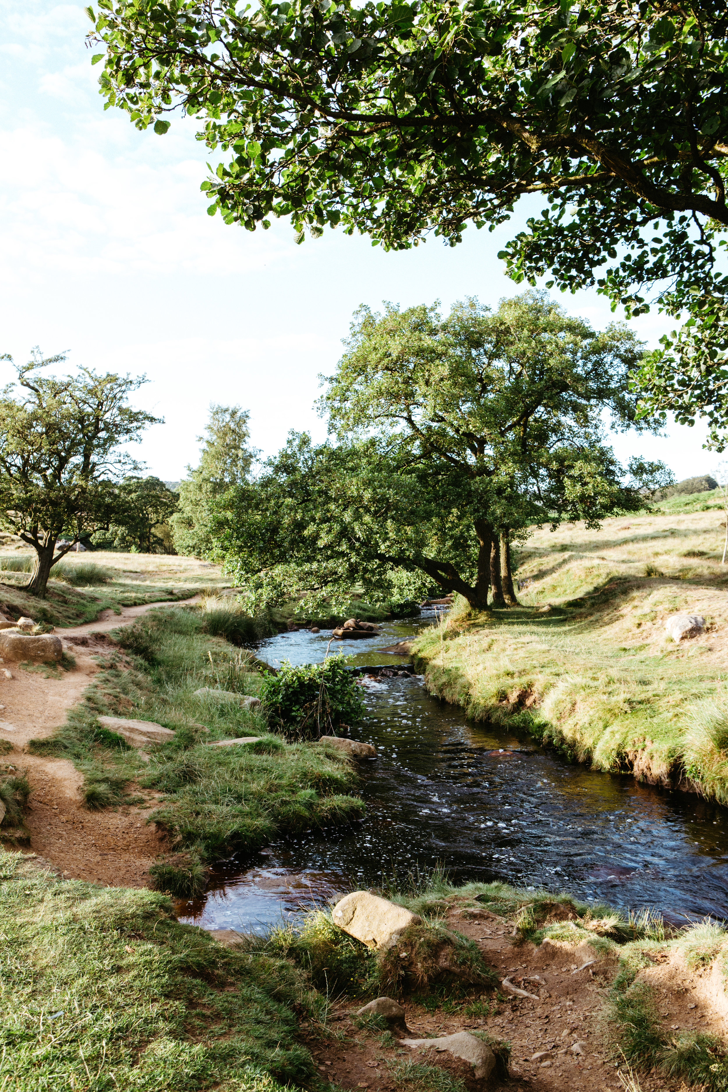 Following Burbage Brook into Padley Gorge