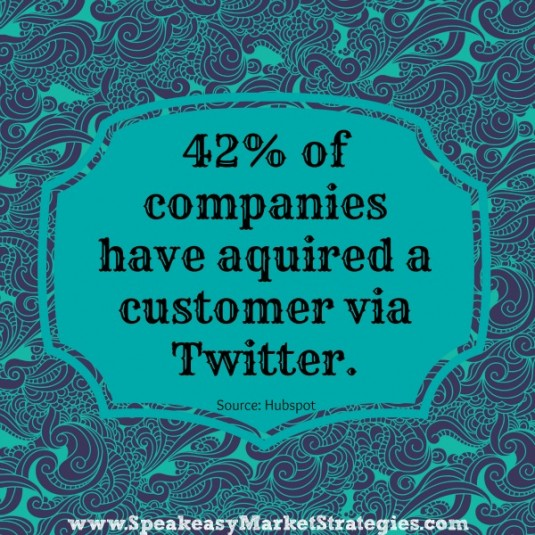 Aquiring customers via twitter